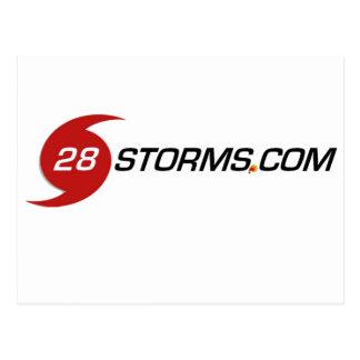 Sharp 28storms.com Logo Postcard