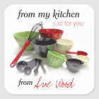 Sharp and Stylish Custom Kitchen Gift Stickers