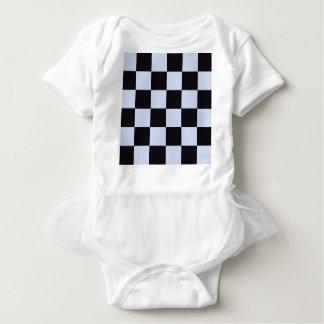 Sharp checkerboard baby bodysuit