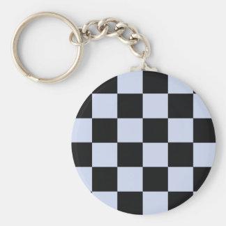 Sharp checkerboard keychain
