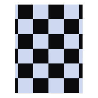 Sharp checkerboard postcard
