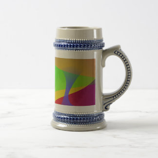 Sharp Contrast Vivid Color Abstract Coffee Mugs