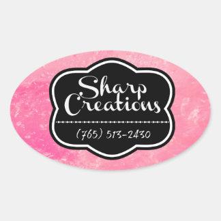 Sharp Creations Pink Oval Sticker