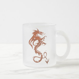 Sharp Dragon Frosted Glass Mug