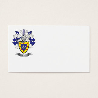 Sharp Family Crest Coat of Arms Business Card