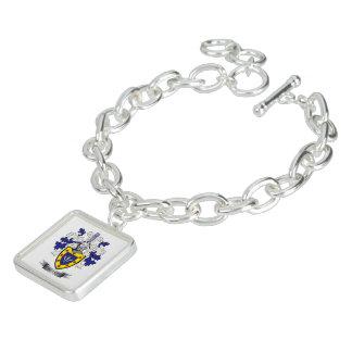 Sharp Family Crest Coat of Arms Charm Bracelets