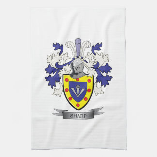 Sharp Family Crest Coat of Arms Kitchen Towel
