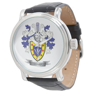 Sharp Family Crest Coat of Arms Watches
