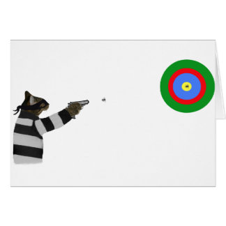 Sharp Shooting Tom Cat Card