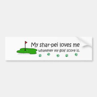 Sharpei Bumper Sticker