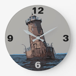 SHARPS ISLAND LIGHT LARGE CLOCK