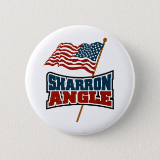 Sharron Angle Waving Flag 2 Inch Round Button