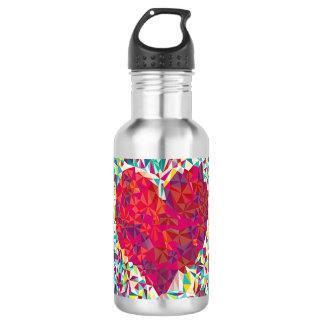 ShaSha's Heart Bottle (18 oz), Stainless Steel