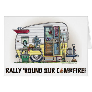 Shasta Camper Trailer RV Card