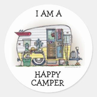 Shasta Camper Trailer RV Classic Round Sticker