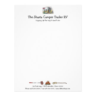 Shasta Camper Trailer RV Letterhead