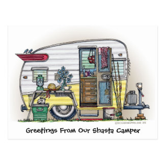 Shasta Camper Trailer RV Post Cards