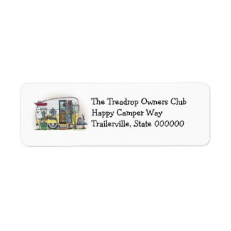Shasta Camper Trailer RV Return Address Label