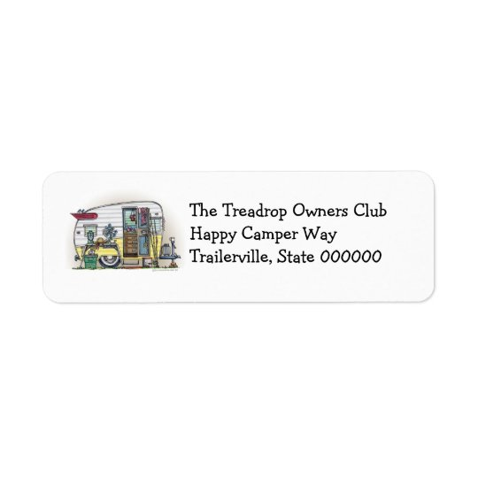 Shasta Camper Trailer RV Return Address Label