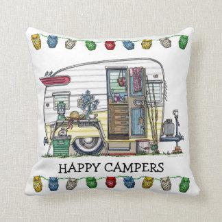 Shasta Camper Trailer RV Throw Pillow