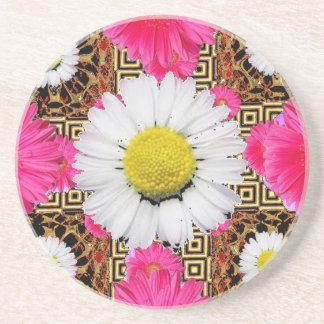 Shasta Daisy & Pink Gerbera Gifts Coaster