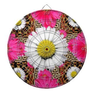 Shasta Daisy & Pink Gerbera Gifts Dartboard
