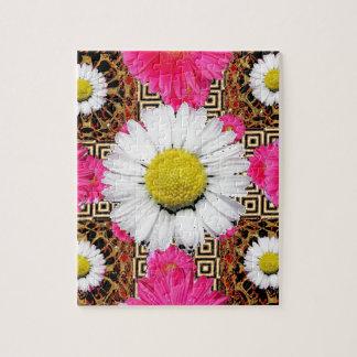 Shasta Daisy & Pink Gerbera Gifts Jigsaw Puzzle