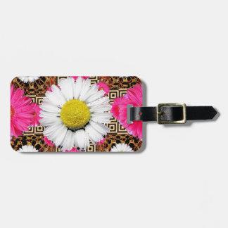 Shasta Daisy & Pink Gerbera Gifts Luggage Tag