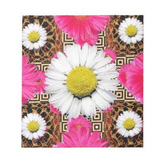 Shasta Daisy & Pink Gerbera Gifts Notepad