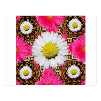 Shasta Daisy & Pink Gerbera Gifts Postcard