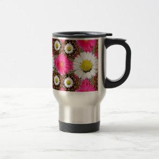 Shasta Daisy & Pink Gerbera Gifts Travel Mug