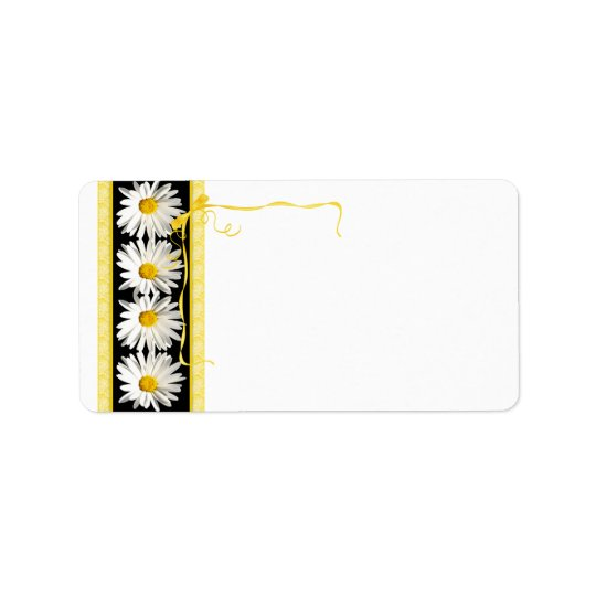 Shasta Daisy Wedding Blank Address Label