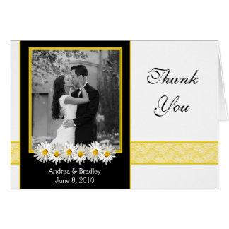 Shasta Daisy Wedding Photo Thank You Card