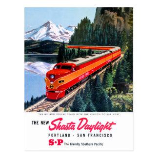 Shasta Daylight Portland San Francisco Poster Postcard