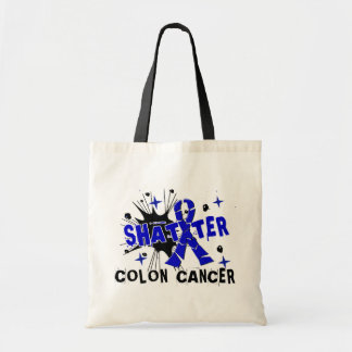 Shatter Colon Cancer Tote Bags