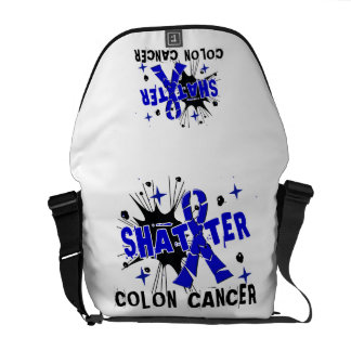 Shatter Colon Cancer Courier Bags
