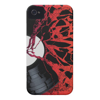 Shattered Blues Record iPhone 4 Case-Mate Case