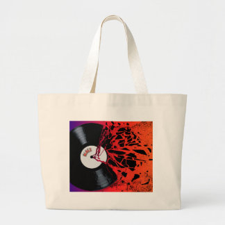 Shattered Blues Record Large Tote Bag