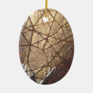 Shattered Glass and Sunlight Ceramic Ornament