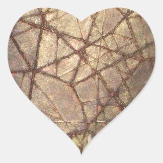 Shattered Glass and Sunlight Heart Sticker