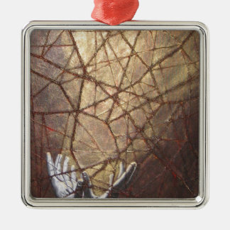 Shattered Glass and Sunlight Metal Ornament