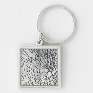 Shattered glass texture keychain