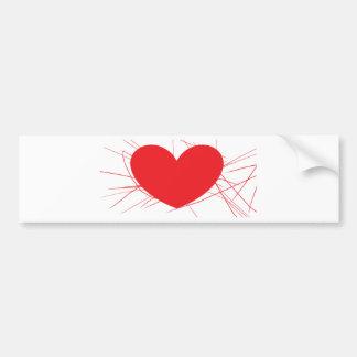 shattered heart bumper sticker