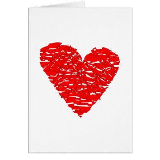 Shattered Heart Card