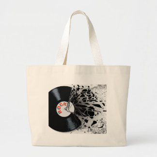 Shattered Record Large Tote Bag
