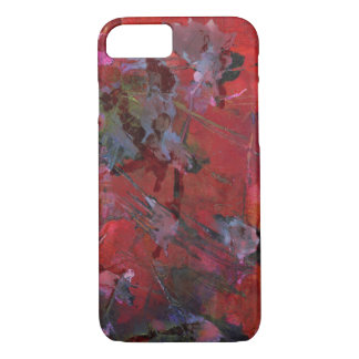 Shattered red and black grunge iPhone 7 case