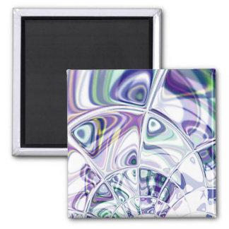 Shattered Violets Magnet