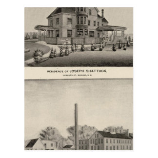 Shattuck residence, McLane Mills Postcard