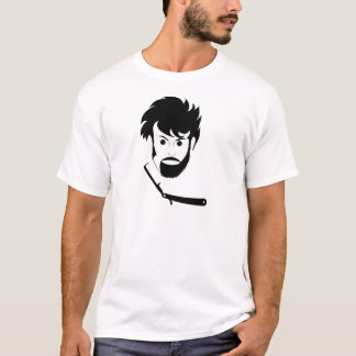 Shave - Man Shaving Beard - Shaved Beard T-Shirt