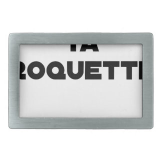 SHAVE MT ROCKET - Word games - François Ville Belt Buckle
